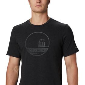 Columbia Bluff Mesa Graphic T-shirt Heren, black outdoor relief